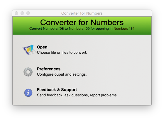 Converter for Numbers
