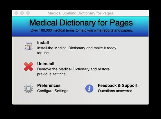 MedicalDictionaryPagesMainScreenshot
